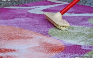 Сухая чистка ковра в домашних условиях: наиболее популярные методы