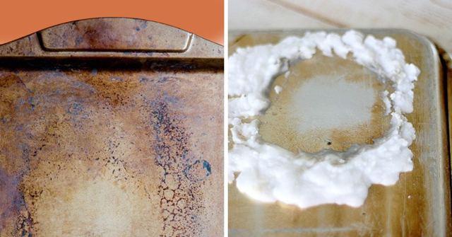Как отмыть противень от старого жира – народные и инновационные средства