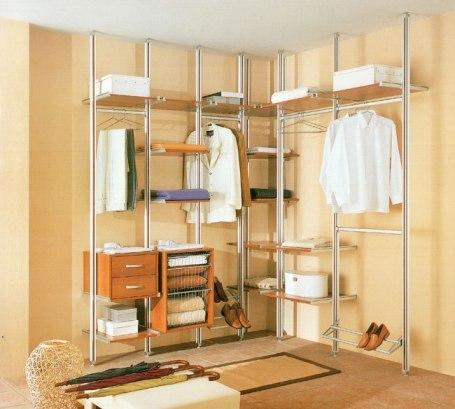 Системы хранения вещей в гардеробной