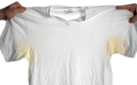Как отстирать желтые пятна на подмышках на белом – 7 лучших средств