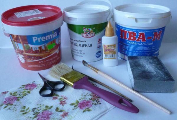 Клей для декупажа - правила выбора и рецепты