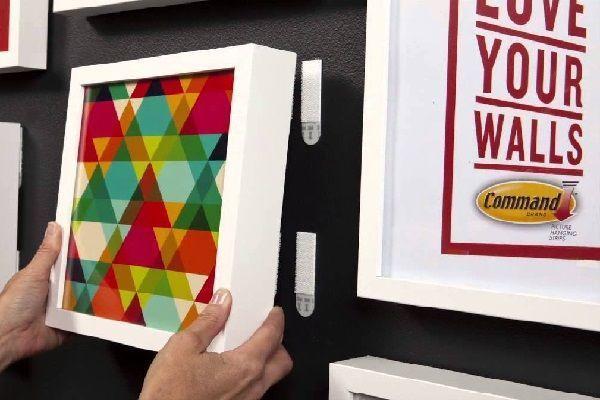 Как повесить картину без гвоздя – лучшие способы