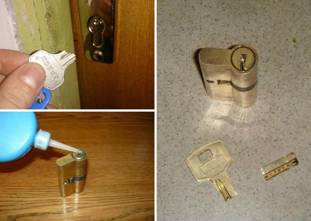 Сломался ключ в замке, как вытащить обломок и открыть дверь?