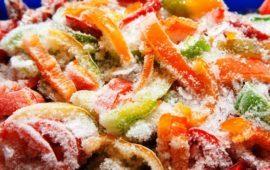 как сохранить болгарский перец на зиму в морозилке, для фаршировки, в банках