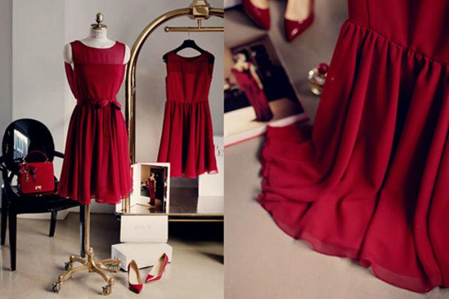 Погладить платье из различных материалов: шерсть, шелк, кожа, шифон и другие