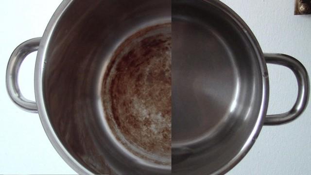 Как очистить кастрюлю от нагара с помощью народных средств?