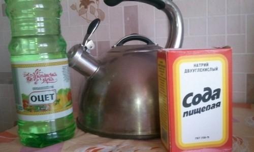 Как почистить чайник от накипи уксусом, содой и лимонной кислотой: пошаговые инструкции