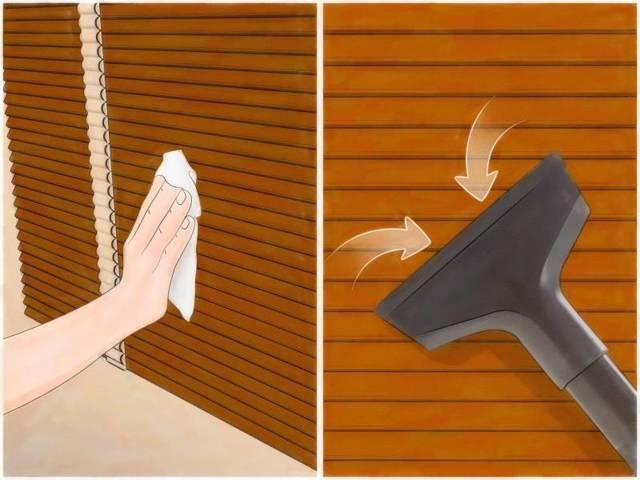 Как помыть жалюзи, не снимая их окон