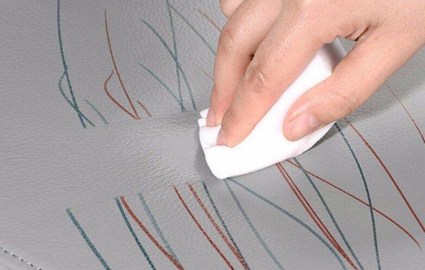 Меламиновая губка для удаления пятен с любых поверхностей