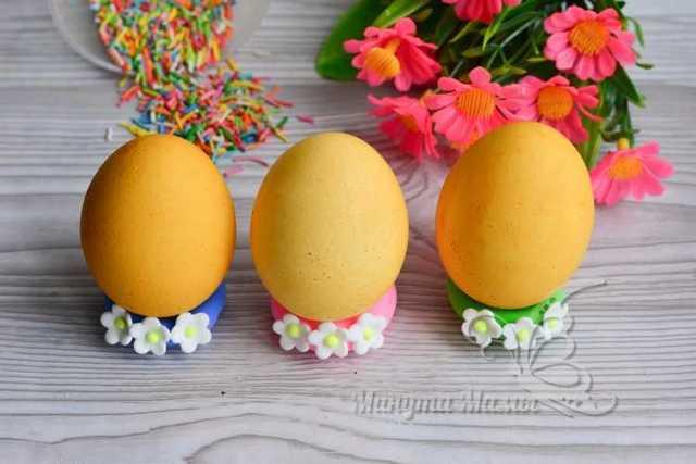 Как покрасить яйца куркумой на пасху рецепт с фото в домашних условиях