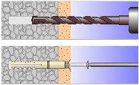 Как вытащить металлический и пластиковый дюбель и анкер из бетонной стены